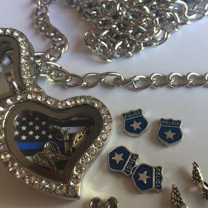 Jewelry - Thin Blue Line story locket necklace